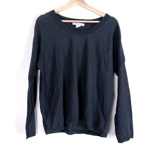 BCBGeneration Gray Sparkly Long Sleeve Top